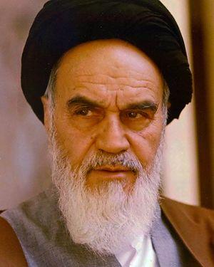 Ruhollah Khomeini - Image: Portrait of Ruhollah Khomeini By Mohammad Sayyad (cropped)
