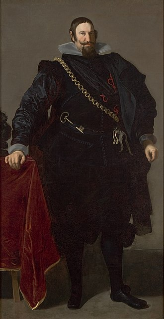 Gaspar de Guzmán, Count-Duke of Olivares - A relatively youthful Olivares in 1624, three years into his time in power, by Diego Velázquez.