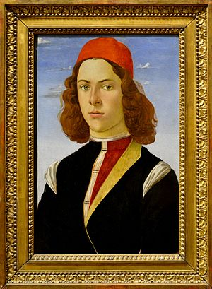 Portrait of young man by Sandro Botticelli - Louvre