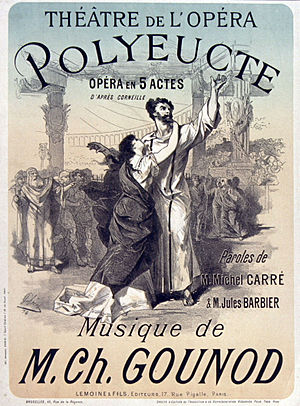 Polyeucte (opera) - Poster for the premiere by Jules Chéret