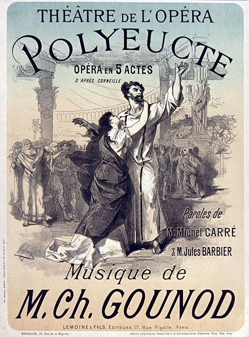 Poster by Chéret for Polyeucte by Gounod - Gallica
