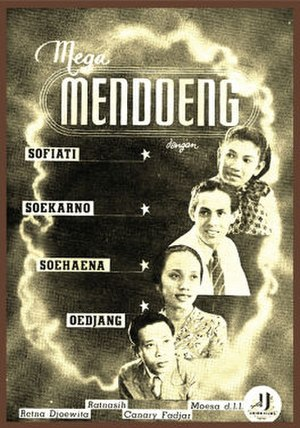 Union Films - Advertisement for Union's last production, Mega Mendoeng (1942)