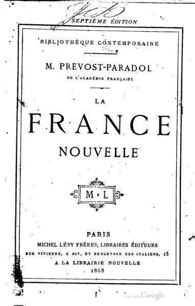 File:Prévost-Paradol - La France nouvelle.djvu
