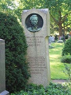 Karl Christian Planck German philosopher
