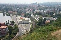 Praha, Dejvice, Baba, pohled na hydrologický ústav.JPG