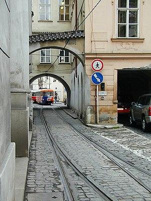 Gauntlet track - Tram gauntlet in Malá strana, Prague