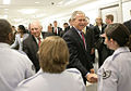 President Bush and Vice President Cheney meet military personnel at the Pentagon, 2006-08-14.jpg
