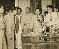 President Quirino receiving Huk leaders at Malacañan Palace.jpg