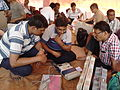 Presiding and Polling Officers Checking Poll Materials - DCRC - Barasat 2016-04-24 02038.jpg