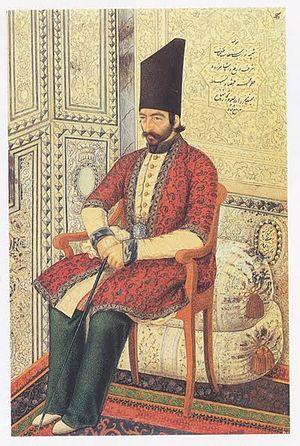 Aliqoli Mirza Qajar - Portrait of Prince Ali Qoli Mirza I'tizad al-Saltaneh.
