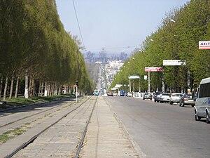 Kamianske - Svobody Avenue in Kamianske