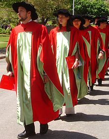 Ph.D. candidates march at Commencement in McGill's scarlet regalia ...