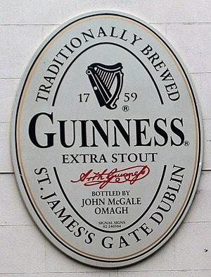 Trinity College harp - Guinness logo