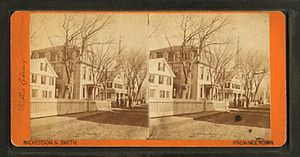Provincetown Public Library (old) - Image: Public library, by Nickerson, G. H. (George Hathaway), 1835 1890