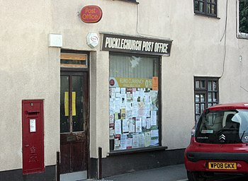 English: Pucklechurch Post Office With EIIR po...