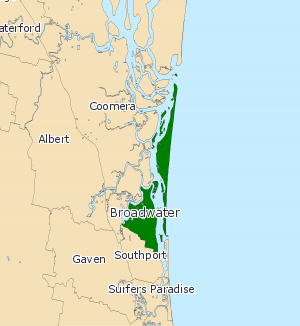 Electoral district of Broadwater - 2008 map of Broadwater