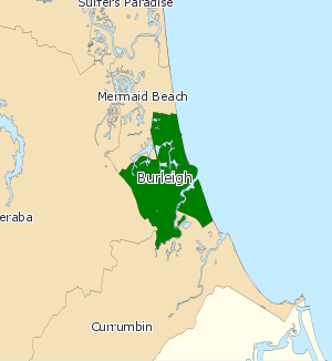 Electoral district of Burleigh - Electoral map of Burleigh 2008