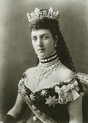 Alexandra of Denmark - Photograph by Alexander Bassano, 1881
