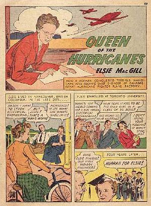 "Elsie MacGill - Elsie MacGill portrayed as ""The Queen of the Hurricanes."""