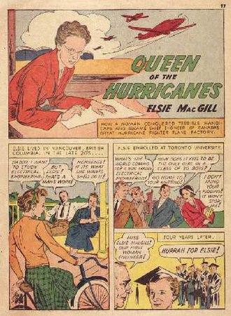 "Elsie MacGill - Elsie MacGill portrayed as ""The Queen of the Hurricanes."""