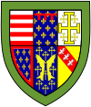 Queens' College (Cambridge) shield.svg