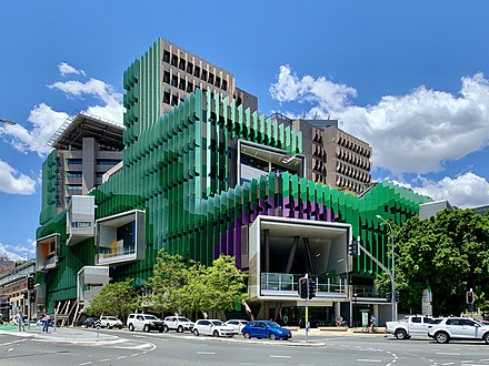 The Queensland Children's Hospital at South Brisbane Queensland Children's Hospital in Brisbane, November 2019.jpg
