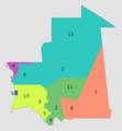 Régions et wilayas de Mauritanie, 2018.png