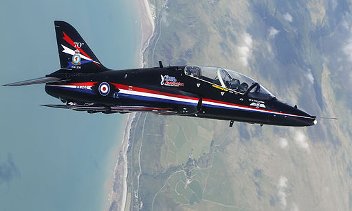 RAF Hawk T1 Fast Jet Practices Aerobatics Over North Wales MOD 45152895