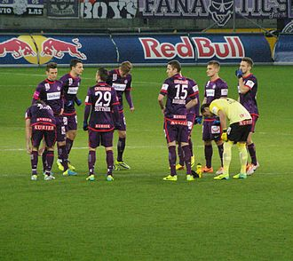 FK Austria Wien - Austria Wien players on the pitch against Red Bull Salzburg, December 2013