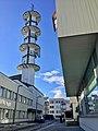 "Radio tower (""Telebygget"") in Borggata 10, Leirvik town, Stord Island, Norway 2018-03-13 d.jpg"