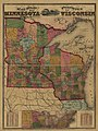 Railroad and post office map of Minnesota and Wisconsin. LOC 98688399.jpg