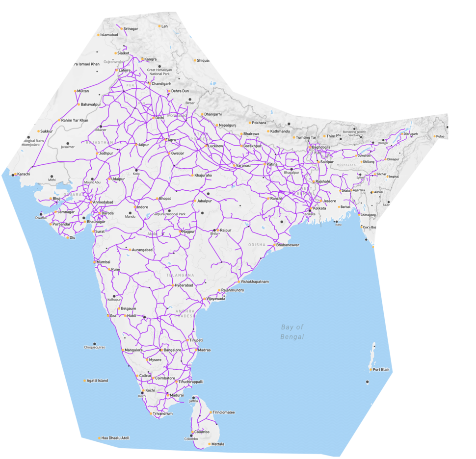 Railways and airports in india