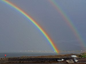 Rainbow over the Old Pier, Broadford On Skye, ...