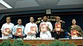 Ram Vilas Paswan releasing the publication 'Forging New Frontiers' at a Press Conference on achievements of the Ministry of Steel during the last four years, in New Delhi on May 23, 2008.jpg