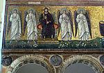 Ravenna, sant'apollinare nuovo, int., gesù in trono, epoca del vescovo agnello.JPG