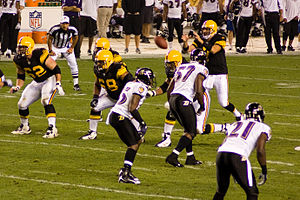 Chris McAlister - McAlister (21) playing against the Pittsburgh Steelers in 2008.