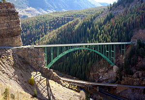 National Register of Historic Places listings in Eagle County, Colorado - Image: Red Cliff Bridge Colorado