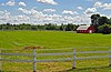 Red barn in Morrisburg, Ontario, Canada.jpg