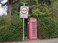 Red telephone box at Pinfold.JPG