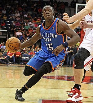 Reggie Jackson (basketball, born 1990) - Jackson in a game as a member of the Thunder