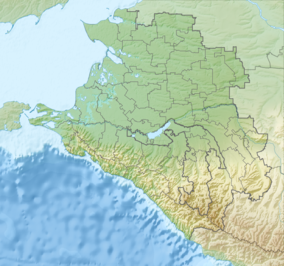 Map showing the location of Sochi National Park