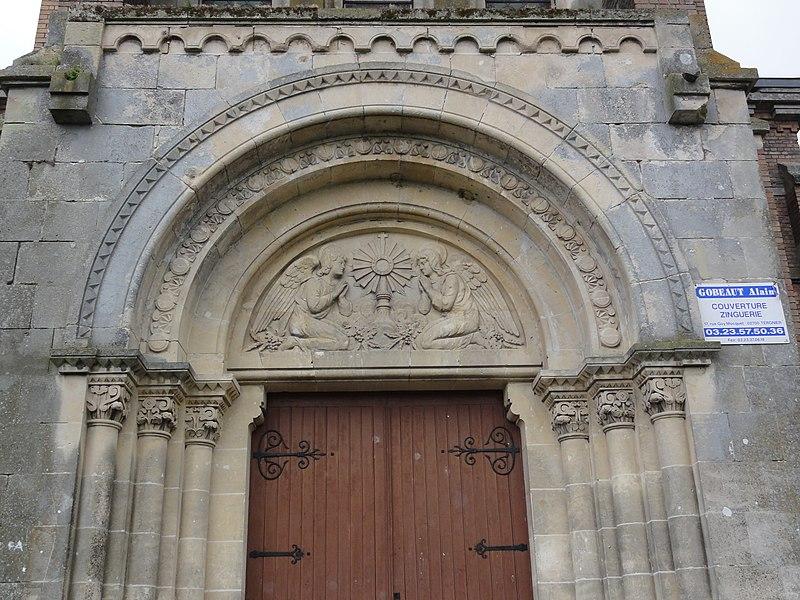Remigny (Aisne) église, portail