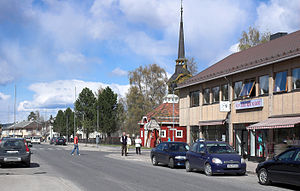Rena, Norway - In the center of Rena