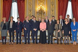 Renzi Cabinet - Renzi's government during the oath.