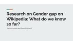 Research on Gender gap on Wikipedia What do we know so far.pdf