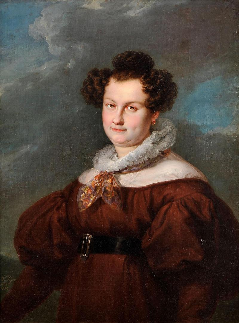 Retrato de D. Maria Cristina de las Dos Sicilias en hбbito de carmelita (1834) - Vicente Lуpez Portaсa.png