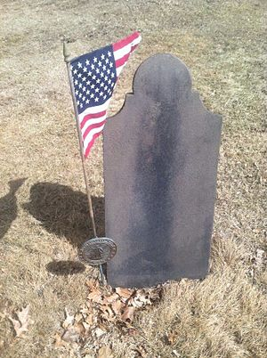 Forty Fort, Pennsylvania - Image: Revolutionary War Grave from Forty Fort Cemetery