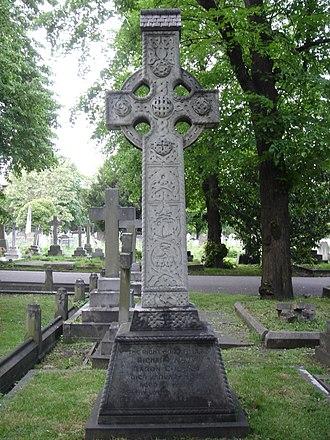 Richard Collins, Baron Collins - Funerary monument, Brompton Cemetery, London.