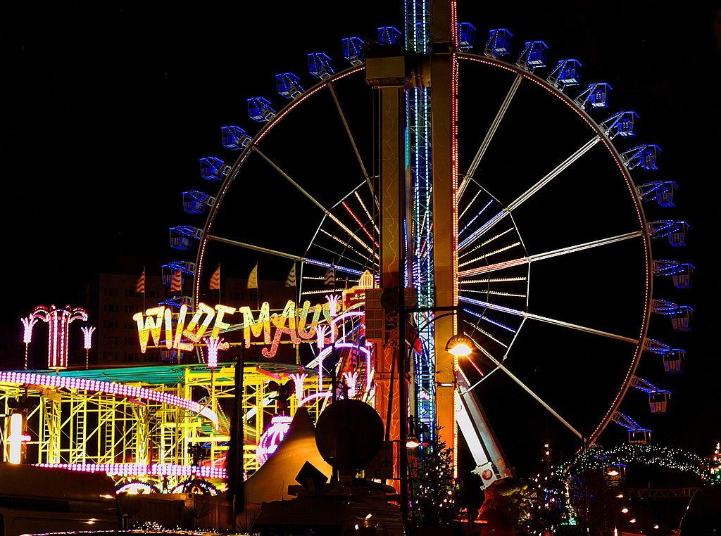 Ferris Wheel at a holiday fair near Jannowitzbrücke in Berlin-Mitte.