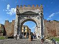 Rimini, arco di augusto, lato esterno 02.JPG